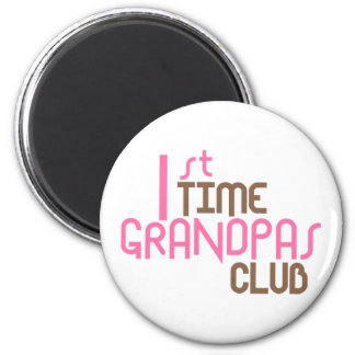 1st Time Grandpas Club (Pink) Magnets