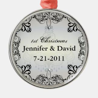 1st Wedded Christmas Flourish Ornament