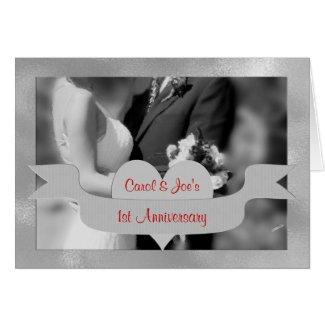 1st Wedding Anniversary Congratulations Card