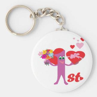 1st Wedding Anniversary Keychain