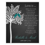 1st wedding anniversary love is corinthains poster