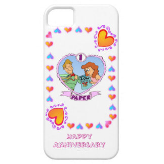 1st wedding anniversary, paper barely there iPhone 5 case