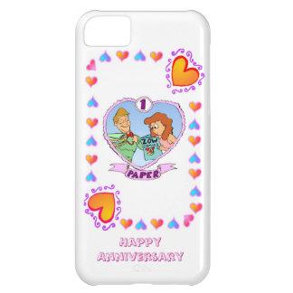 1st wedding anniversary, paper iPhone 5C case