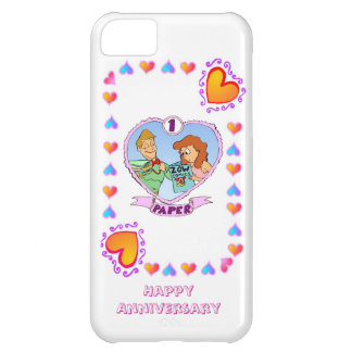 1st wedding anniversary paper iPhone 5C covers