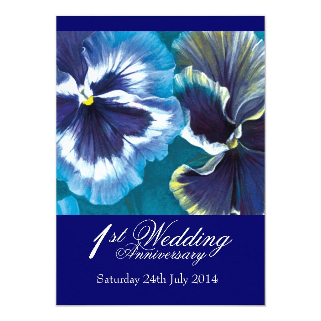 1st Wedding Anniversary Party Invitation