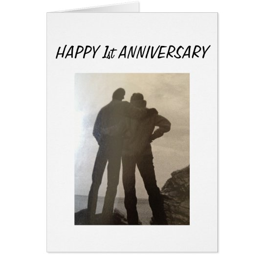 1st WEDDING ANNIVERSARY-TOGETHER FOREVER Card