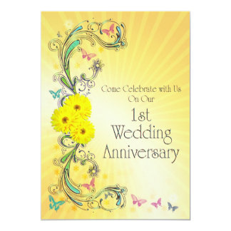 1st Wedding Anniversay Party Invitation