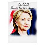 1st Woman President Hillary Clinton 2016_ Note Card