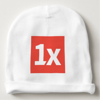 "1x baby has ""Don't make ME CR. "" Baby Beanie"