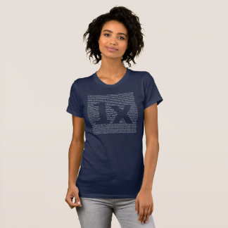 "1x ""drush"" women's tea, dark blue T-Shirt"