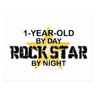 1Year Old Rock Star by Night Postcard