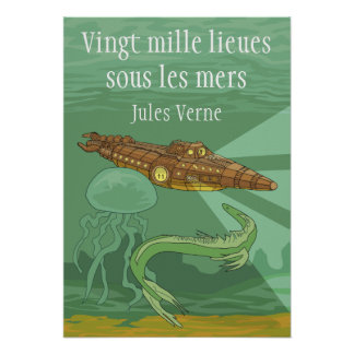 20000 lieues sous les mers - Jules Verne Poster