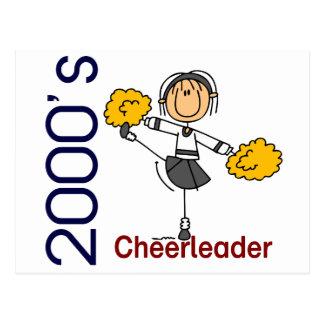 2000's Cheerleader Stick Figure Postcard
