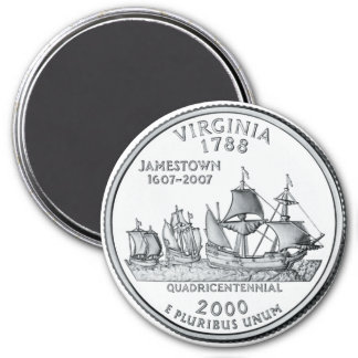 2000 Virginia State Quarter magnet