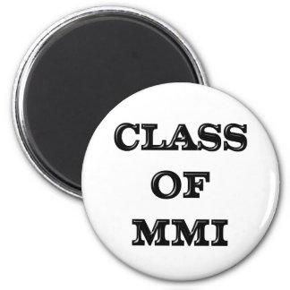 2001 Graduate 6 Cm Round Magnet