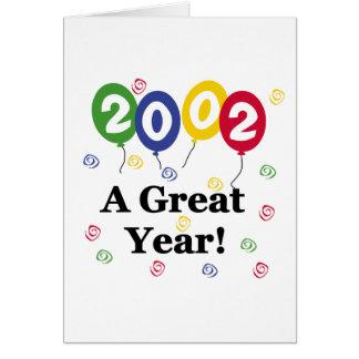 2002 A Great Year Birthday Greeting Card