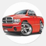 2003-08 Ram Quad Red Truck Classic Round Sticker