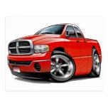 2003-08 Ram Quad Red Truck Postcard