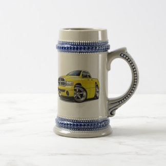 2003-08 Ram Quad Yellow Truck Beer Stein