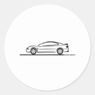 2004 05 06 Pontiac GTO Round Stickers