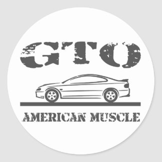 2004-06 GTO American Muscle Car Round Sticker