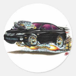 2004-06 GTO Black Car Round Sticker