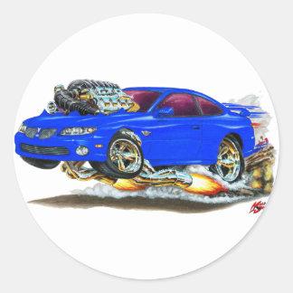2004-06 GTO Blue Car Classic Round Sticker