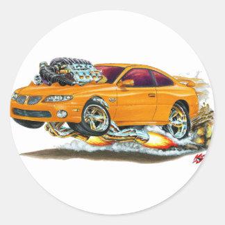 2004-06 GTO Orange Car Classic Round Sticker