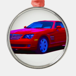 2004 Chrysler Crossfire Silver-Colored Round Decoration