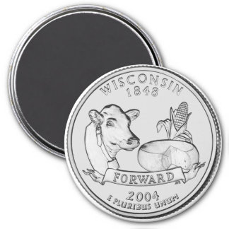 2004 Wisconsin State Quarter magnet