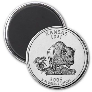 2005 Kansas State Quarter magnet