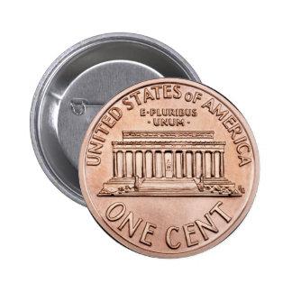 2005 Lincoln Memorial 1 cent copper coin money 6 Cm Round Badge