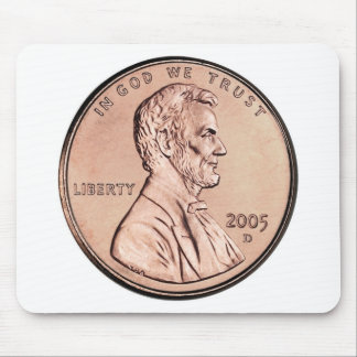 2005 Lincoln Memorial 1 cent copper coin money Mouse Mat