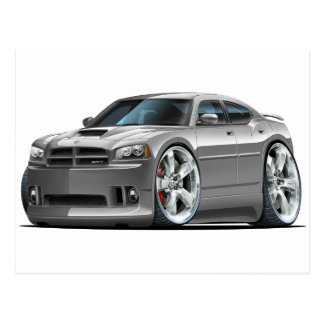 2006-10 Charger SRT8 Grey Car Postcard