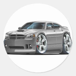 2006-10 Charger SRT8 Grey Car Round Sticker