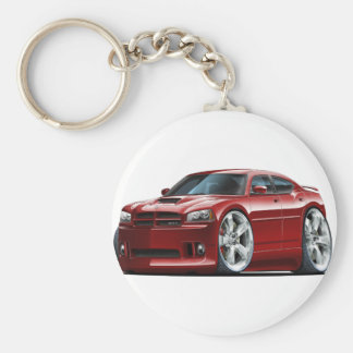 2006-10 Charger SRT8 Maroon Car Basic Round Button Key Ring