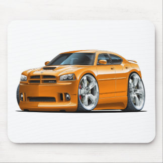 2006-10 Charger SRT8 Orange Car Mouse Pad