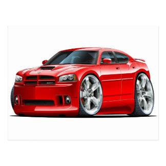 2006-10 Charger SRT8 Red Car Postcard