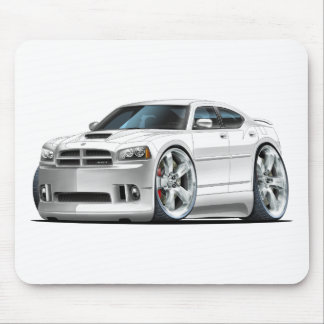 2006-10 Charger SRT8 White Car Mouse Pad