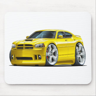 2006-10 Charger SRT8 Yellow Car Mouse Pad