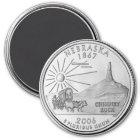 2006 Nebraska State Quarter magnet