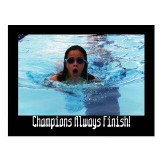2006 tax0078, Champions Always Finish! Postcard
