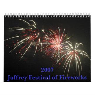 2007 Jaffrey Festival of Fireworks Wall Calendar