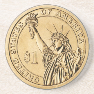 2007 Presidential One Dollar Coin from U.S. Mint Drink Coasters