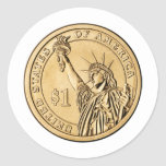 2007 Presidential One Dollar Coin from U.S. Mint Classic Round Sticker