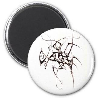 2007 tribal 6 cm round magnet