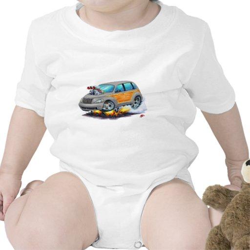 2008-10 PT Cruiser Grey Woodie Baby Bodysuit