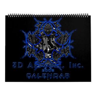 2008 3D Artwork Calendar