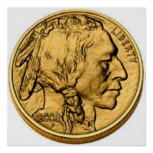 2008 American Buffalo Gold Bullion Coin Poster