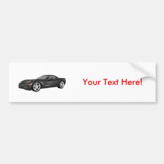 2008 Corvette: Sports Car: Black Finish Bumper Sticker